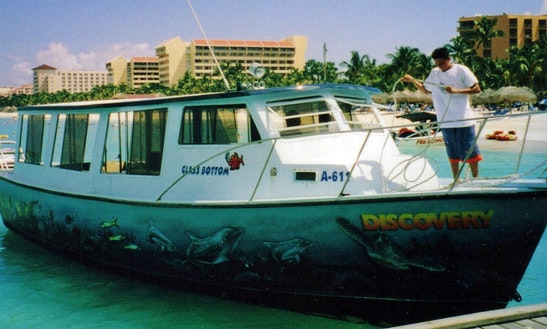 Charter A Glassbottom Boat In Noord, Aruba