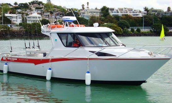 Auckland Fishing Charter On White Pointer Yacht With Darell