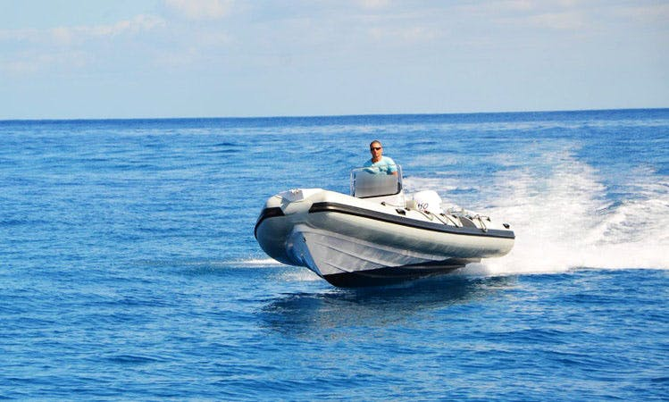 Rent 23' Selva Pro 700 Rigid Inflatable Boat in Saint-Gilles les Bains, Reunion