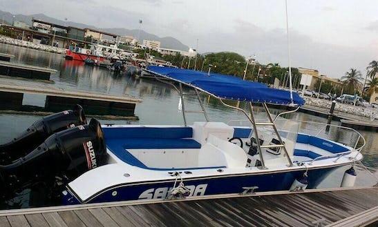 Boat Rental With Captain And Bimini Cover In Santa Marta, Colombia