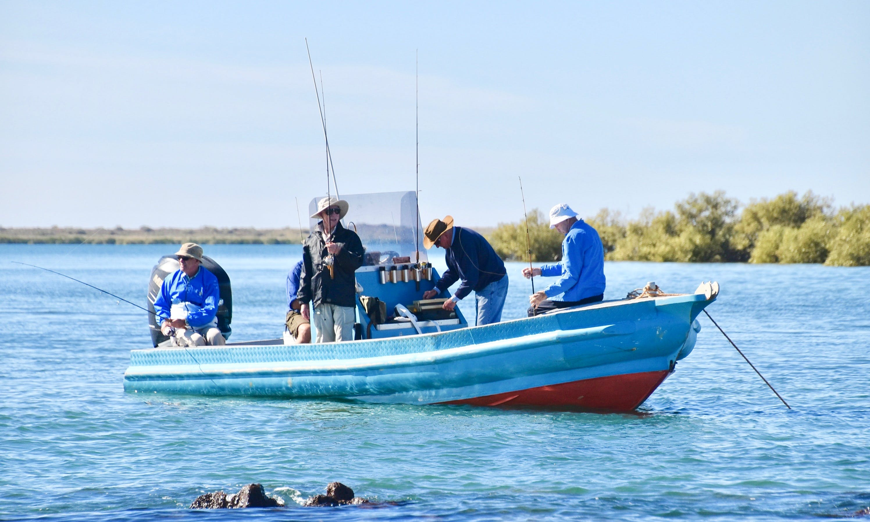 Enjoy Fishing in the Exmouth Gulf, Western Australia on Center Console