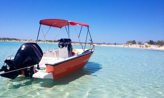 80hp 5,5m Motorboat - Chora Sfakion, Crete, Greece