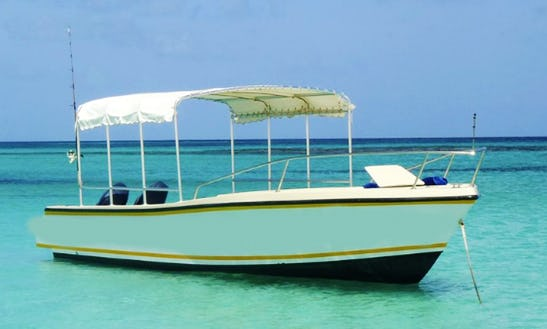 Charter A Glass Bottom Bost In West End Village, Anguilla