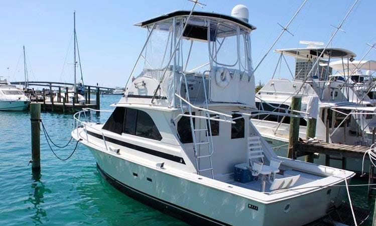 Enjoy Fishing in Nassau, Bahamas on 35' MicSam Sport Fisherman