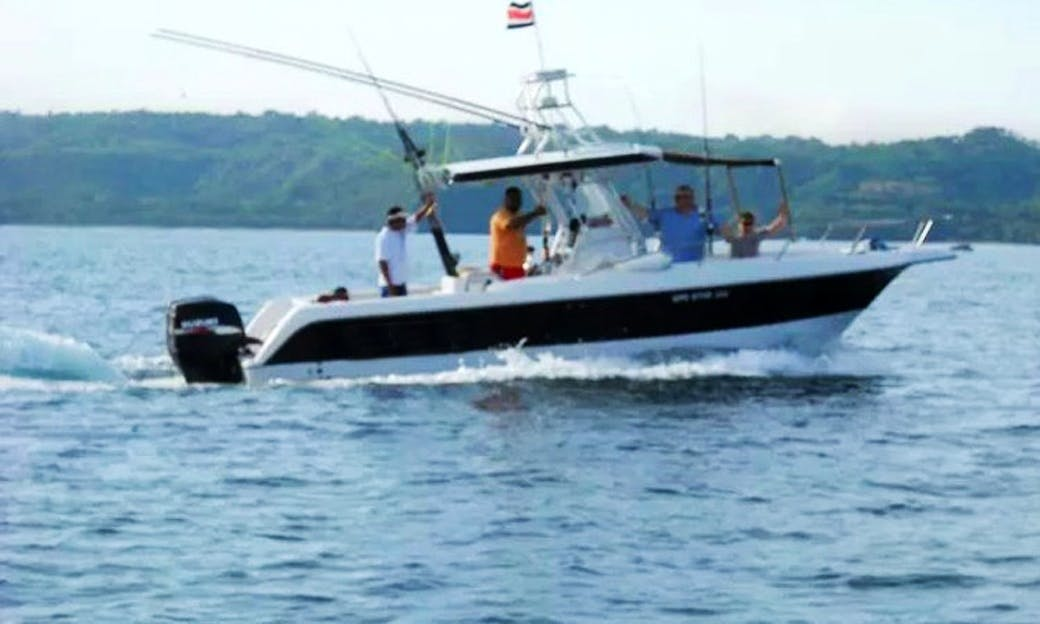 Fishing In Guanacaste, Costa Rica On Center Console Boat