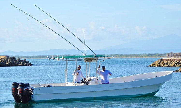 """33ft """"Chloe Frijole"""" Marbella Panga Center Console Boat Fishing Charter in Quepos, Costa Rica"""