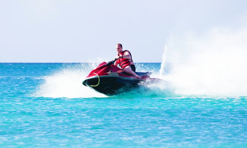 Adrenaline ride on a Jet Ski in Caicos Islands, Turks and Caicos Islands