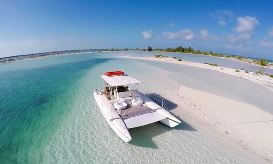Private 35' Catalyst Power Catamaran Charter Through Caicos Cays, Turks And Caicos Islands
