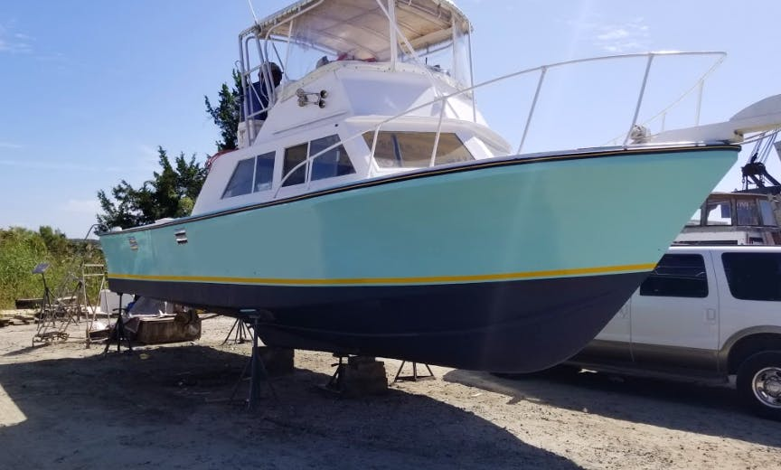 Fishing Charter On 35' Custom Sport Fisherman Yacht In Southport, North Carolina
