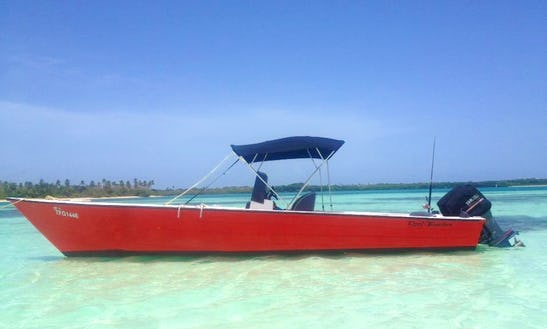 Enjoy Fishing In Scarborough, Trinidad And Tobago On Center Console