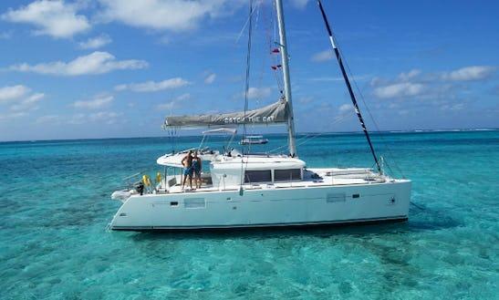 Charter Lagoon 450 Flybridge Cruising Catamaran In West Bay, Cayman Islands