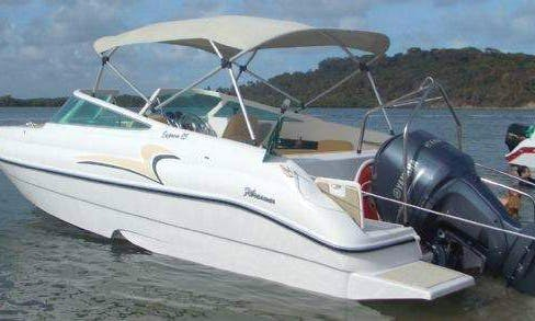 25' Fibrasmar Express Yacht for 4 People in Florianópolis