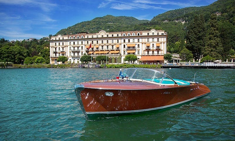 40 Hp Powered Vaporina Riva Boat for 14 People in Laglio