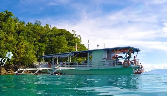 Traditional Wooden Boat For Island Hopping And Chartered Trip , Davao City Philippines
