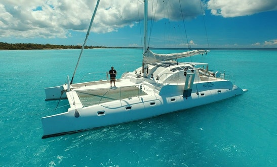 Charter 75' Quetzal Cruising Catamaran In Los Melones, Dominican Republic
