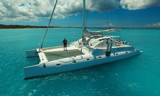 Charter 75' Quetzal Cruising Catamaran In Los Melones, Dominican Republic