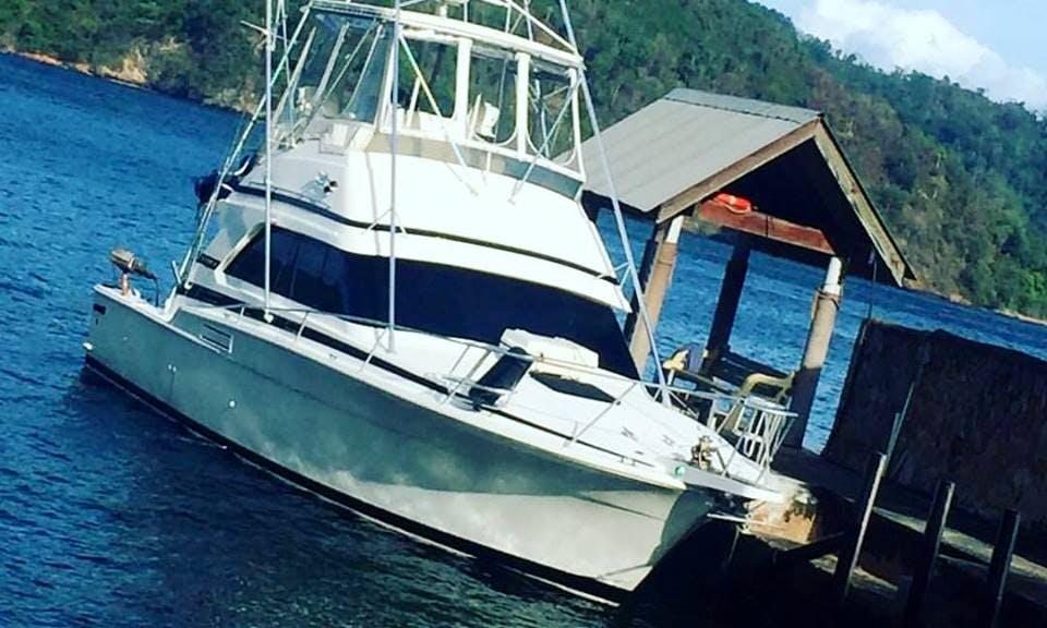 Fun Fishing Trip Aboard 37' Bertram Sport Fisherman in Diego Martin, Trinidad and Tobago