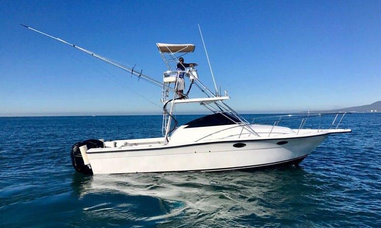 "Fishing Charter 28ft ""Dora"" Sports Fisherman In Nuevo Vallarta, Mexico"