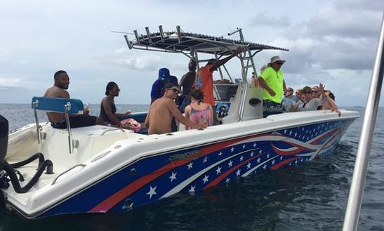10 Person Center Console Charter Experience In Gros Islet, Saint Lucia