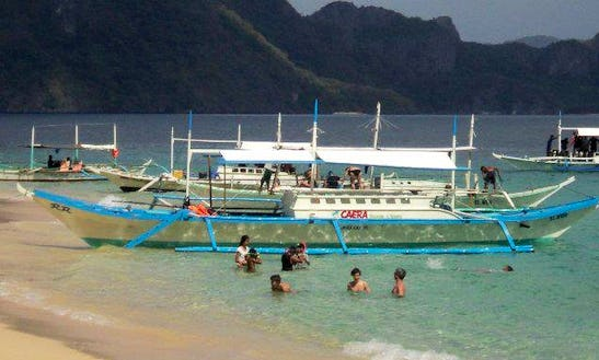 Cruise On A Traditional Boat In El Nido, Philippines