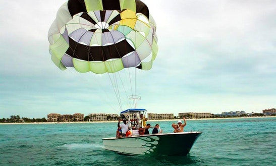 Ocean Parasail & Power Boat Excursions In Grand Turk, Tci