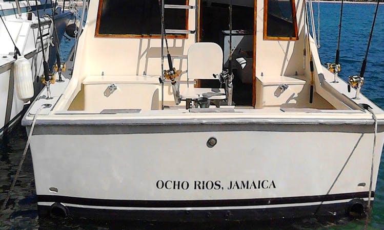 38' Sport Fisherman Fishing Charters in Ocho Rios, Jamaica