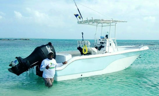 Let's Go Fishing In Cockburn Town, Turks And Caicos Islands On Center Console