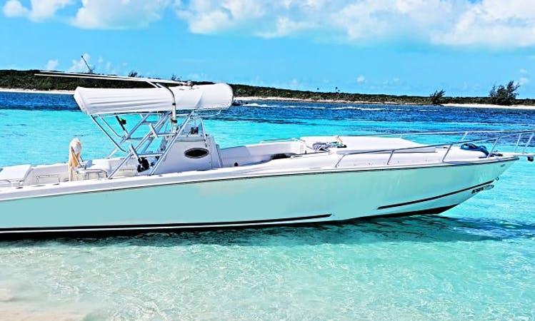 Enjoy 4 hour Center Console Rental in Exuma, Bahamas