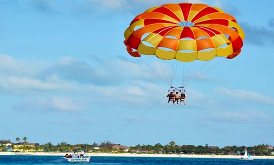 Enjoy Parasailing In Cove Marina, Caicos Islands