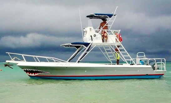 'shark Boat' Fishing Charter In Quintana Roo