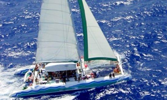 80' Sailing Catamaran In Puerto Aventuras