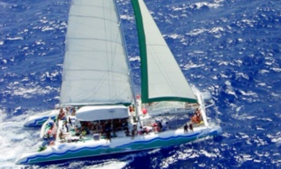 80' Sailing Catamaran In Puerto Aventuras