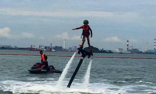 Enjoy Flyboarding In Gelang Patah, Malaysia