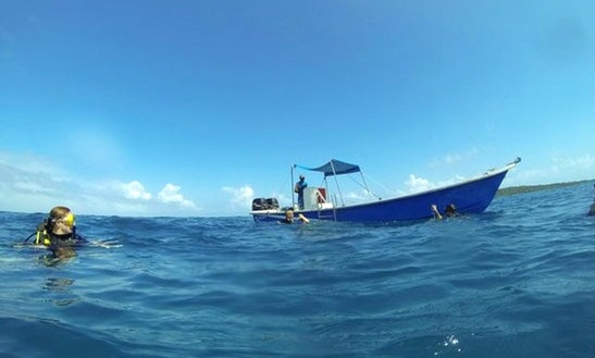 Dive Boat On Little Corn Island