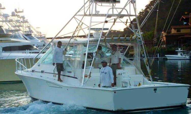 """35' Sport Fisherman """"Dream Raiser"""" Fishing Trips in Herradura, Costa Rica"""