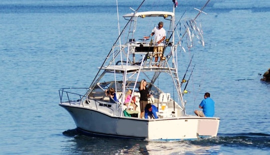 28 Foot Offshore Fishing Charter In Quepos