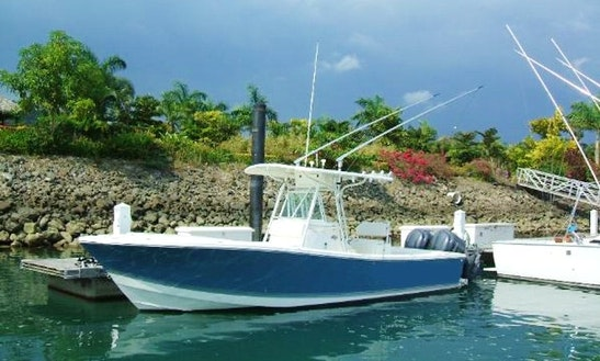 26' Center Console Fishing Charter In Herradura, Costa Rica