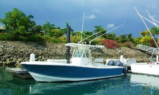 26' Center Console Fishing Charter In Herradura, Costa Rica