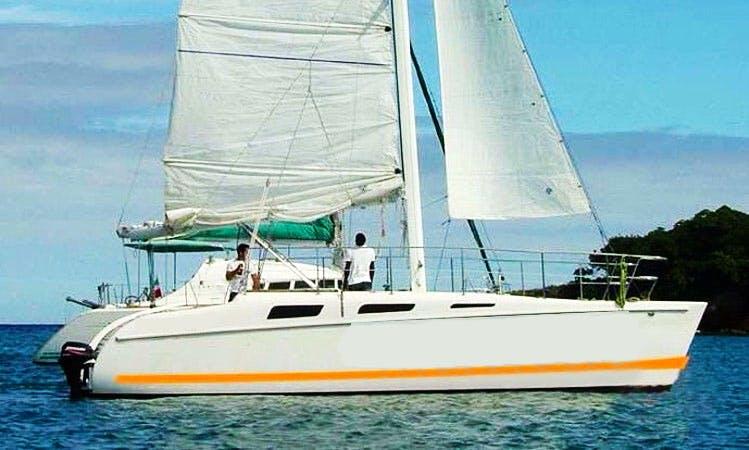 "Charter 32ft ""Cat Pause"" Sailing Catamaran In Punta Cana, Dominican Republic"
