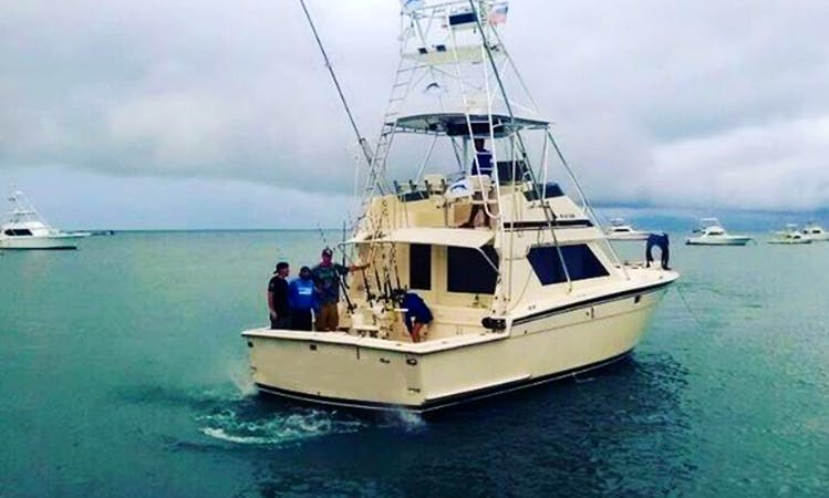 Enjoy Fishing in La Romana, Cap Cana or Santo Domingo in the Dominican Republic on Hatteras 46 Sport Fisherman