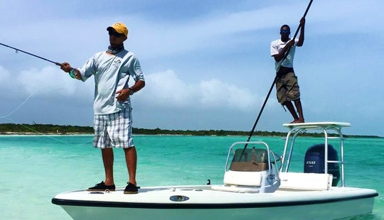 Caicos Islands Fishing Trip On 18' Action Craft Boat With Captain Codney