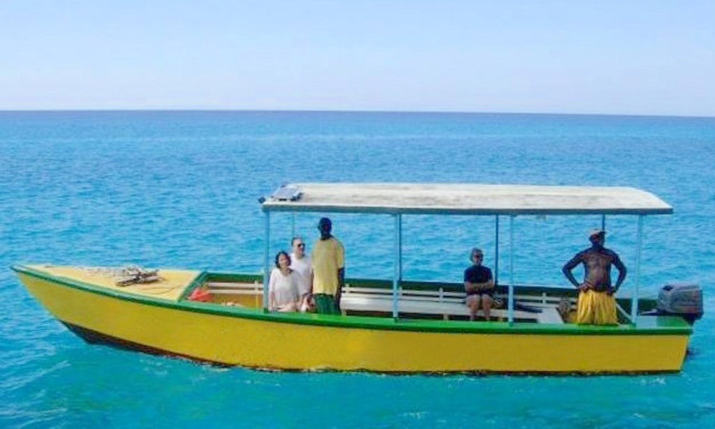 Glass bottom tour boat in jamaica getmyboat for Jamaica fishing charters