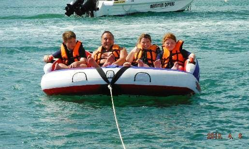Tubing and Banana Rides in Grand River South East, Mauritius