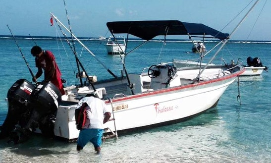 Enjoy Fishing In Savanne District, Mauritius On Center Console