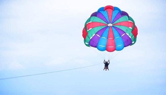 Cool Parasailing Ride In Quatre Cocos, Mauritius