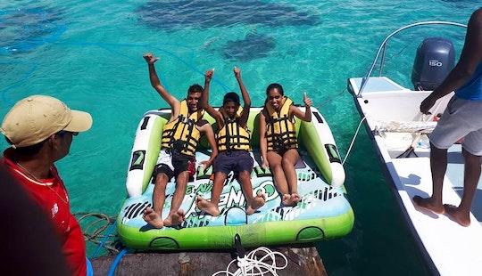Floating Sofa Ride In Quatre Cocos, Mauritius