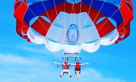 Enjoy Parasailing In Belle Mare, Ile Serf, Mauritius