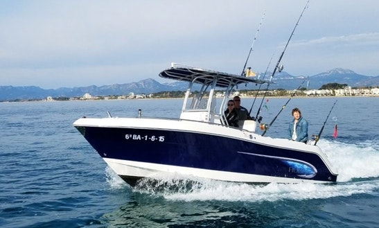 Enjoy Fishing In Cambrils, Spain On Llobarrete Vi Center Console
