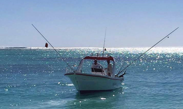 Enjoy Fishing in La Gaulette, Mauritius on Center Console