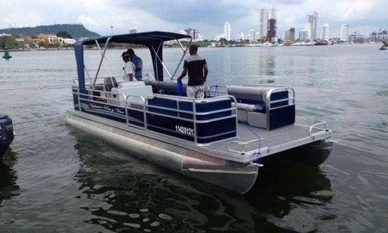 Take A Chartered Cruise On A Pontoon Boat In Cartagena, Colombia
